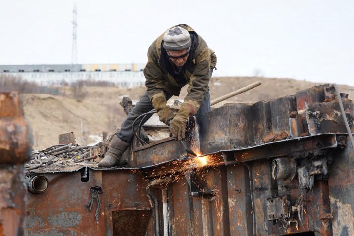 В Магаданской области продолжаются работы по утилизации затонувших судов